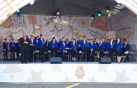 תזמורת הנוער של לוד כבשה את הכיכר האדומה ברוסיה