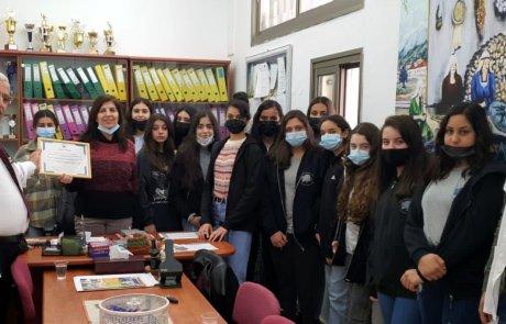 תרומתם המבורכת של תלמידי חטיבת הביניים בבית הספר בראמה